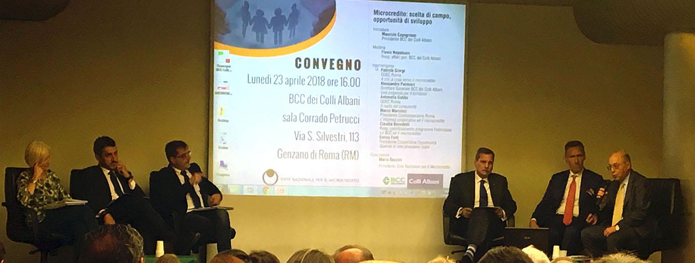 Convegno microcredito BCC Colli Albani